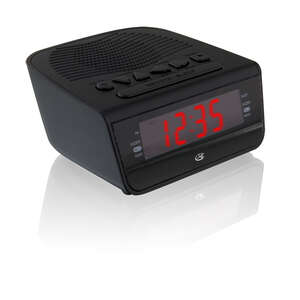 GPX  5.12 in. AM/FM Clock Radio  Black  Digital  Plug-In