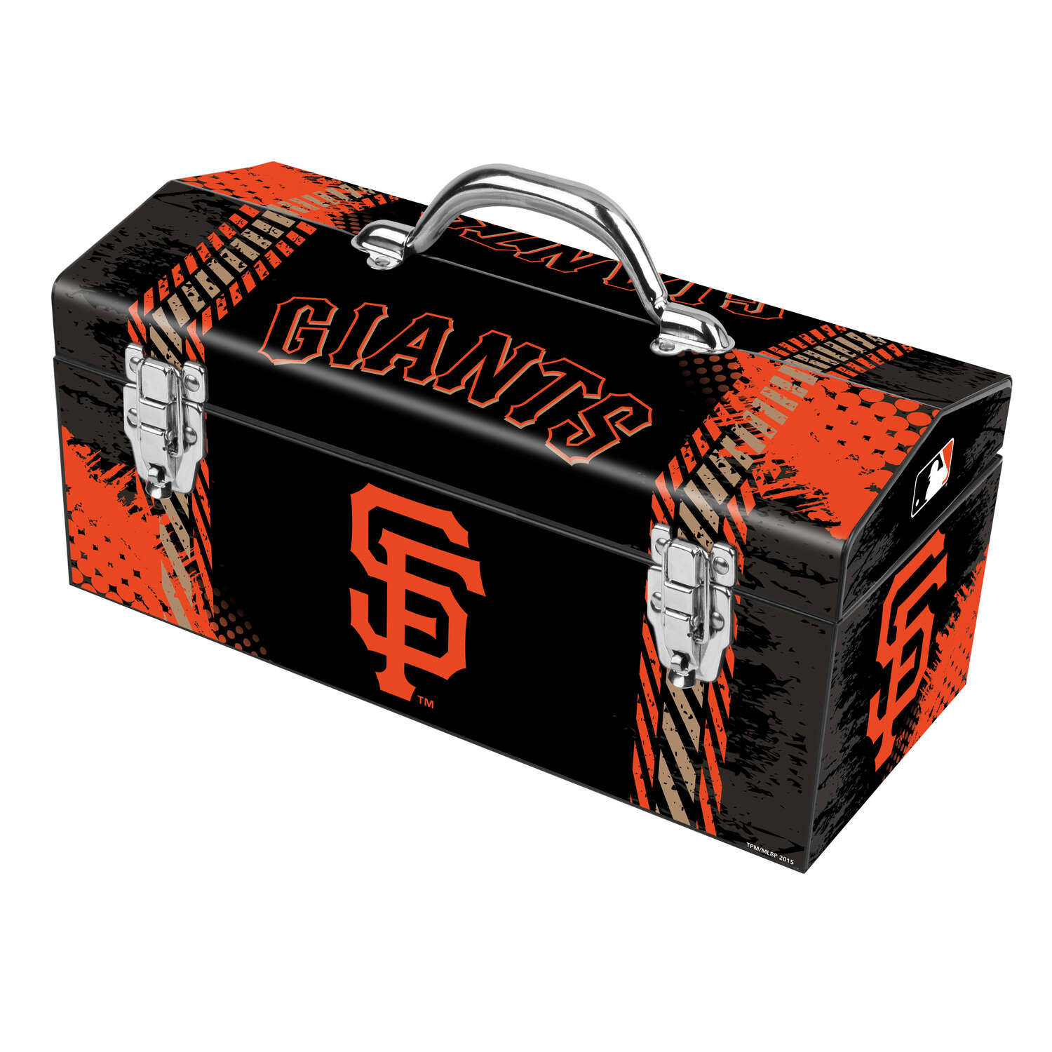 Windco  16.25 in. Steel  San Francisco Giants  Art Deco Tool Box  7.1 in. W x 7.75 in. H Black/Orang