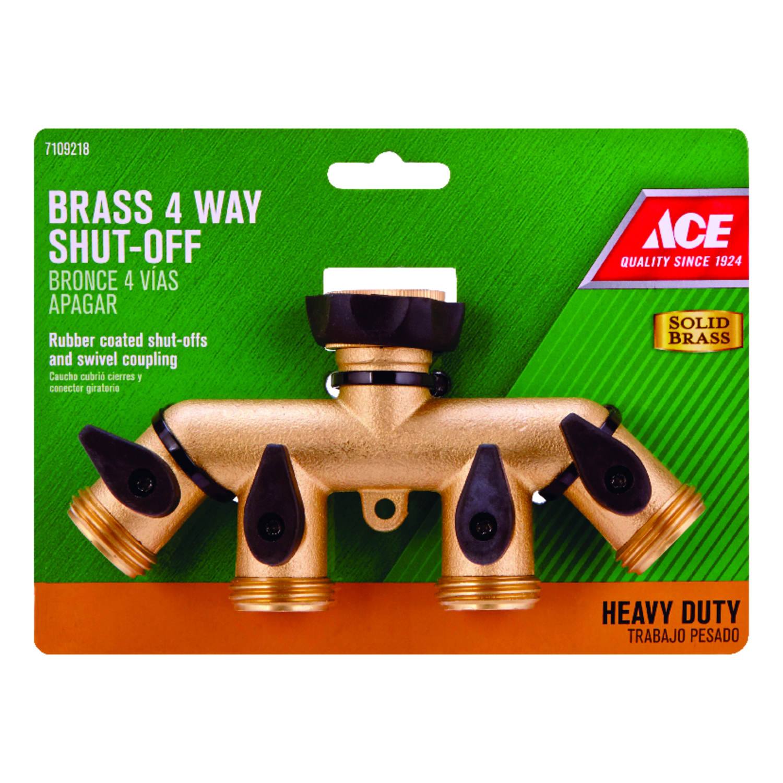 Ace Brass Threaded Female/Male Garden Hose Manifold