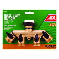 Ace  Brass  Threaded  Female/Male  Garden Hose Manifold