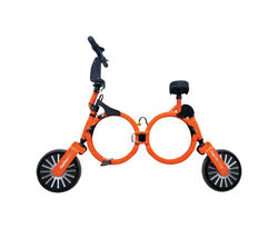 Jupiter Bike  Unisex  10 in. Dia. Electric Folding Bicycle  Orange