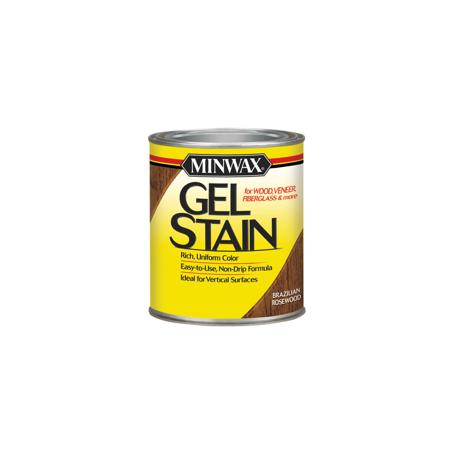 Minwax  Transparent  Low Luster  Brazilian Rosewood  Oil-Based  Gel Stain  0.5 pt.