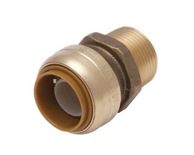 SharkBite  1/2 in. Push   x 1/2 in. Dia. MPT  Brass  Connector