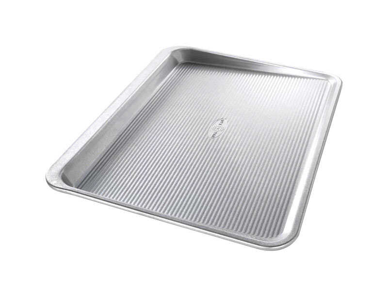 USA Pan  14 in. W x 18 in. L Cookie Sheet  Silver