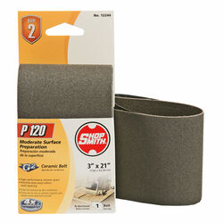 Shopsmith  21 in. L x 3 in. W Ceramic  Sanding Belt  120 Grit Fine  1 pc.