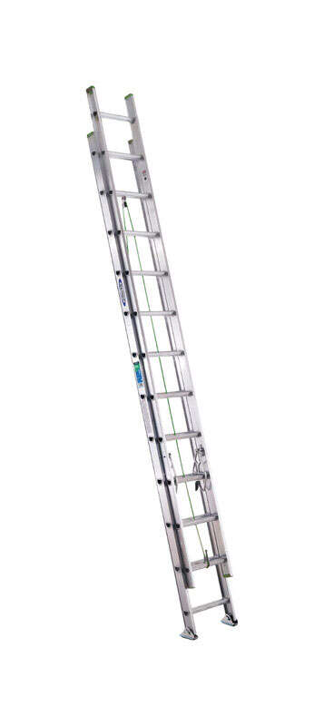 Werner  24 ft. H x 17.33 in. W Aluminum  Extension Ladder  Type II  225 lb.