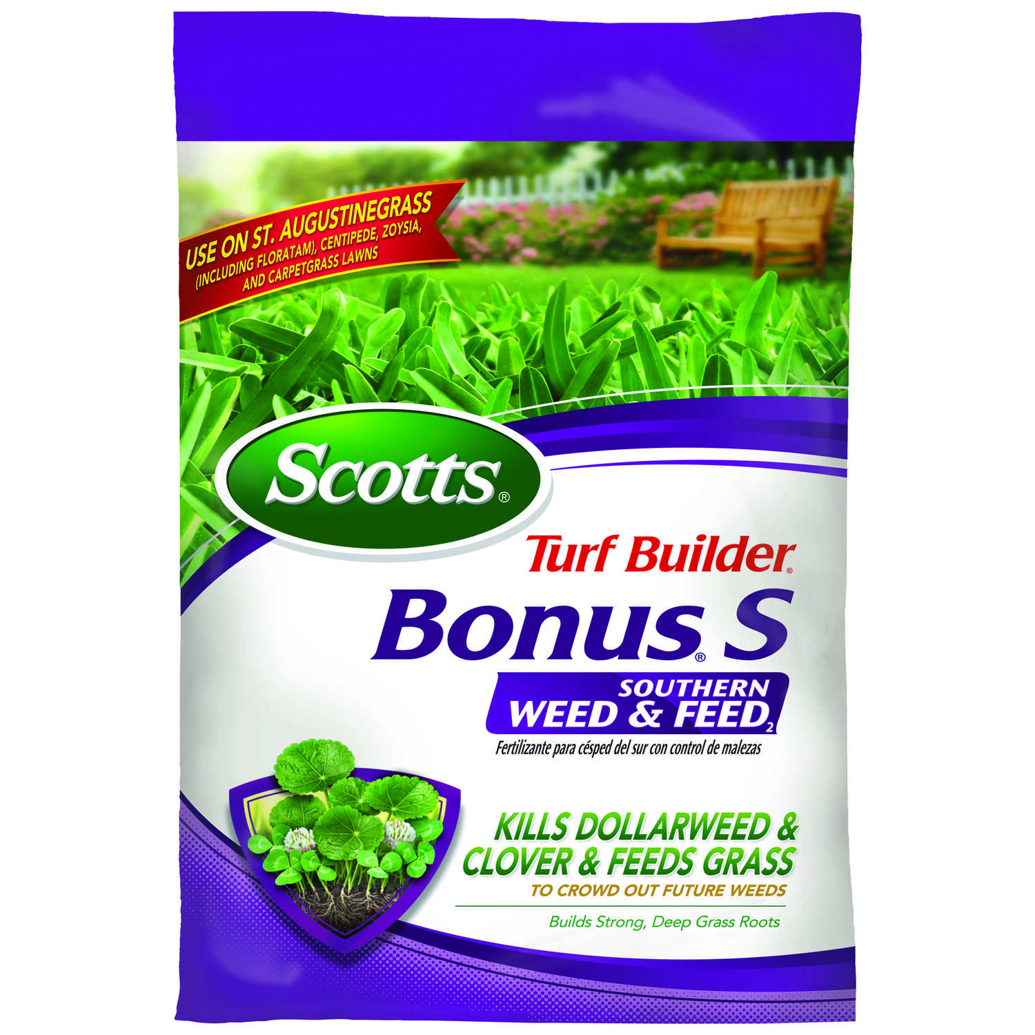 Scotts  Turf Builder Bonus S  Weed & Feed  Lawn Fertilizer  For Southern Grasses 5000 sq. ft.