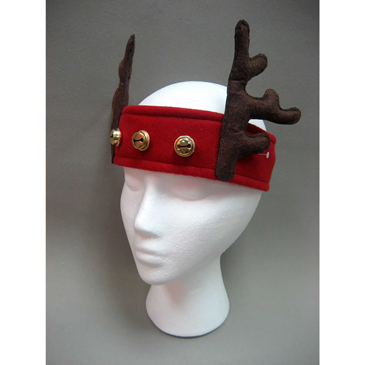 Dyno  Reindeer Ears  Headband  Red  Polyester  1 pk