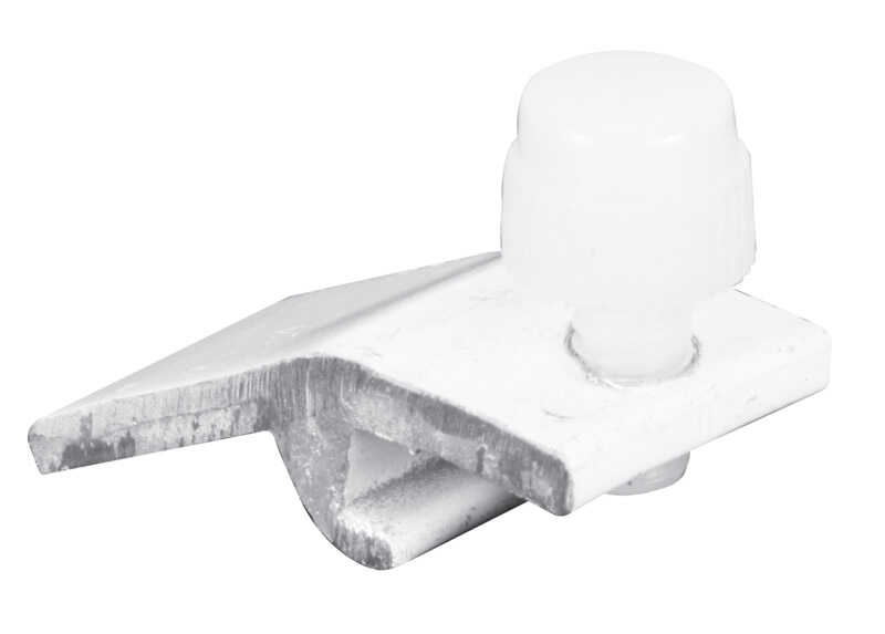 Prime-Line  Mill  White  Extruded Aluminum  Panel Clip  For 5/16 inch 4 pk