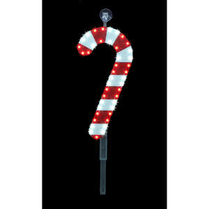Santa's Best  LED Candy Cane Stake  Christmas Decoration  Red/White  1 each Plastic