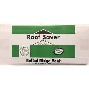 Roof Saver  0.75 in. H x 10.5 in. W x 600 in. L Fiber/Polyester  Roof Vent