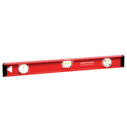 Craftsman 24 in. Aluminum I-Beam Level 3 vial