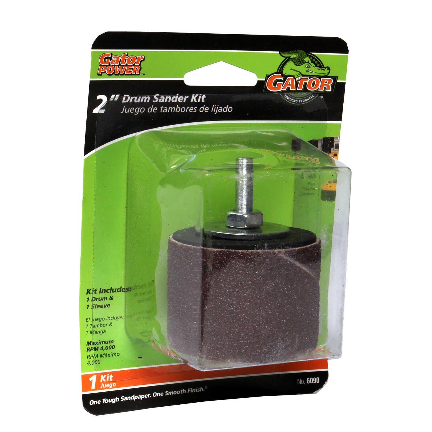 Gator  2 in. Dia. x 2 in. L Drum Sander Kit  50 Grit Coarse  1 pc. Aluminum Oxide