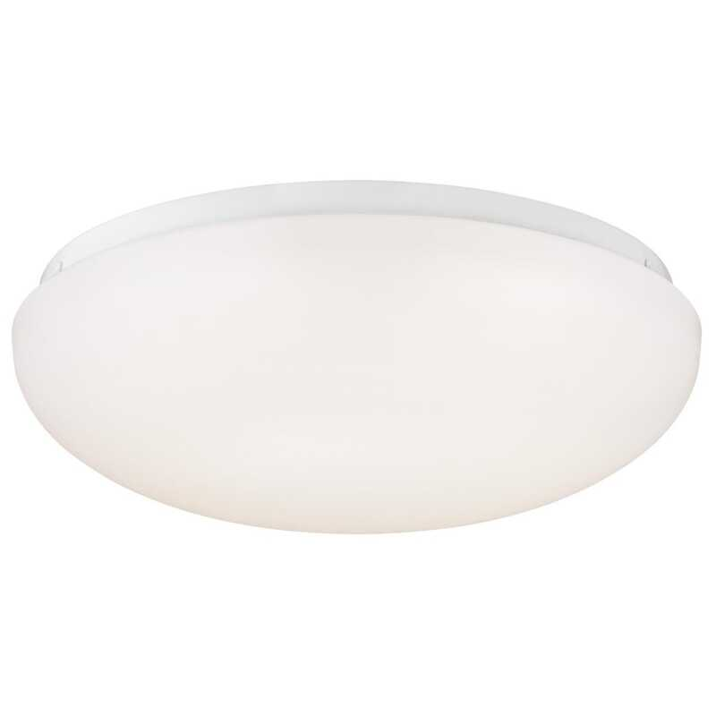 Westinghouse  3.5 in. H x 11 in. W x 11 in. L White  Ceiling Light