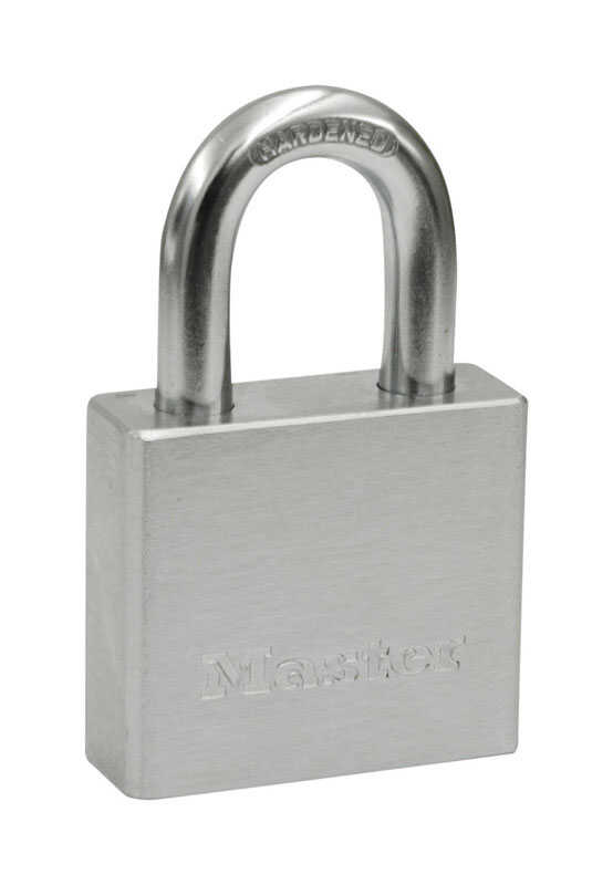 Master Lock  1-13/16 in. H x 13/16 in. W x 2 in. L Steel  5-Pin Cylinder  Padlock  1 each