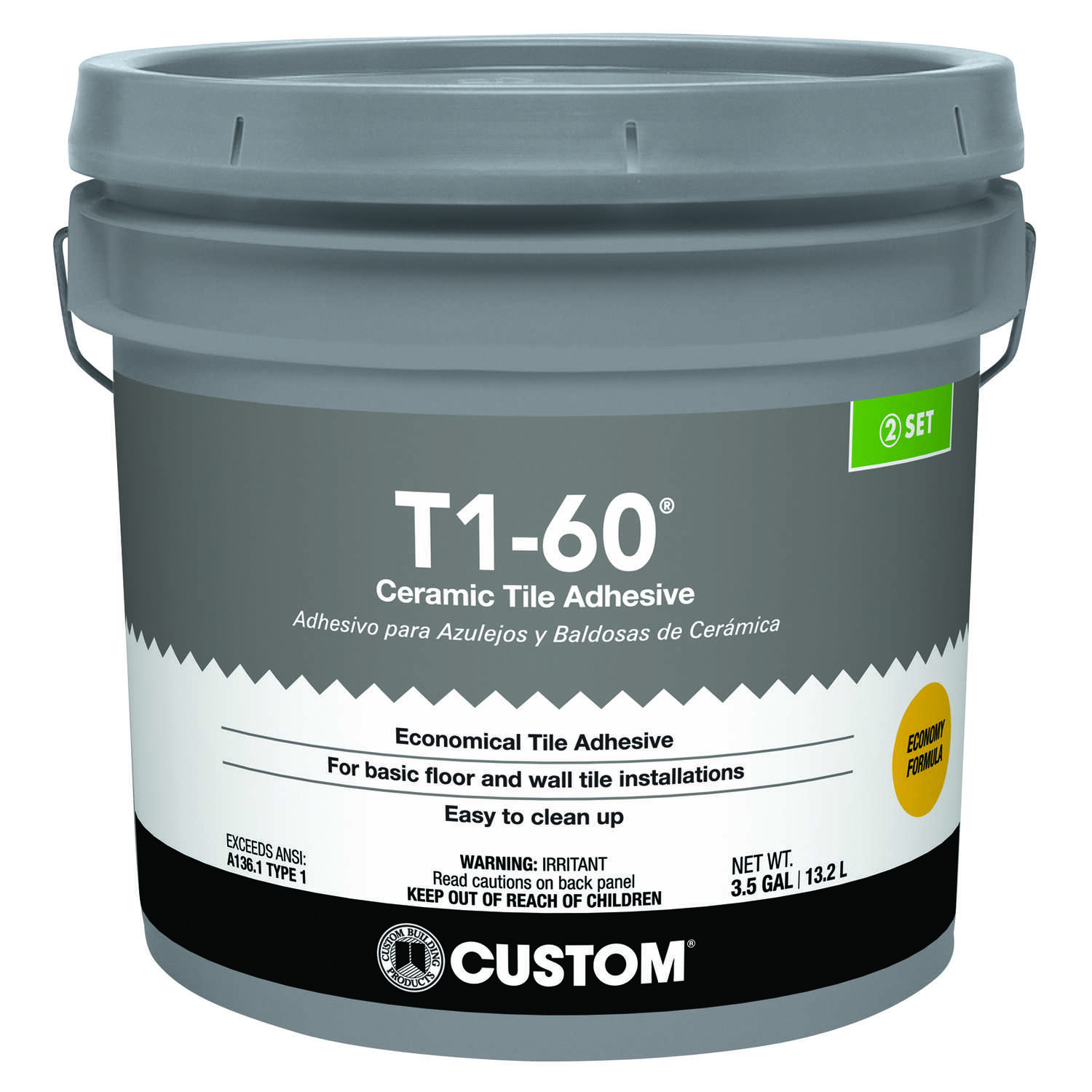 Custom Building Products T1-60 Ceramic Tile Adhesive 3.5 gal.