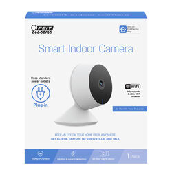 Feit Electric Plug-in Indoor Black/White Wi-Fi Security Camera