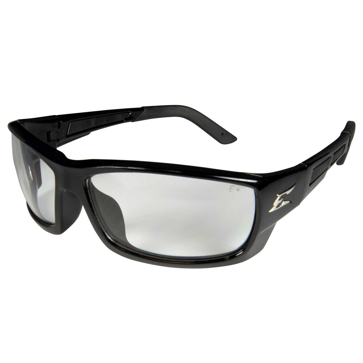 Edge Eyewear  Mazeno  Slim Fit  Safety Glasses  Clear Lens Black Frame 1 pk