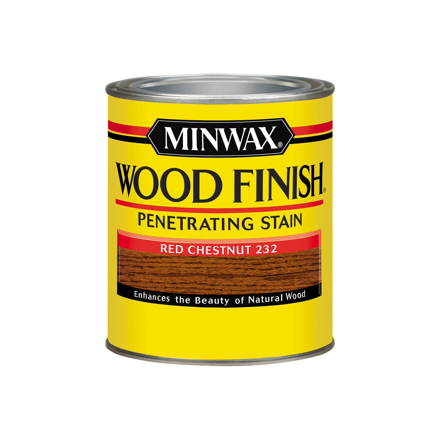 Minwax  Wood Finish  Semi-Transparent  Red Chestnut  Oil-Based  Oil  Wood Stain  1 qt.
