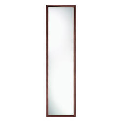 Erias  49 in. H x 13 in. W Natural  Brown  Plastic  Mirror