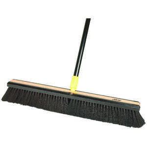 Ace  Smooth Surface Push Broom  24 in. W x 60 in. L Horse Hair