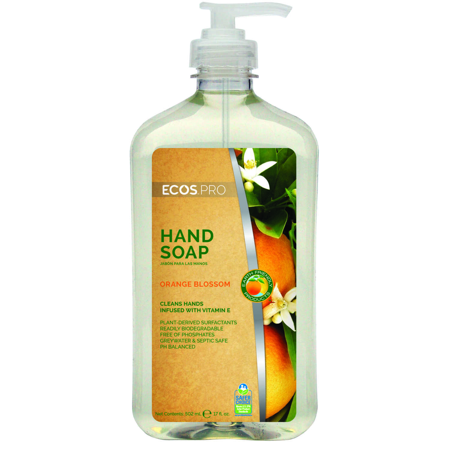 ECOS Pro  Earth Friendly Products  Orange Blossom Scent Liquid Hand Soap  17oz