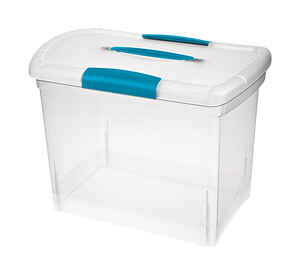 Sterilite  Nesting ShowOffs  11.5 in. H x 15.25 in. D x 9.75 in. W Storage Box  Stackable