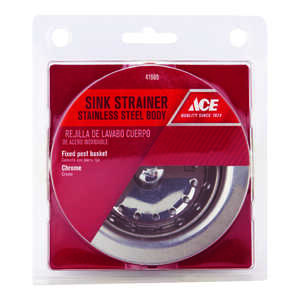 Ace  3-1/2 in. Dia. Basket Strainer Assembly  Chrome