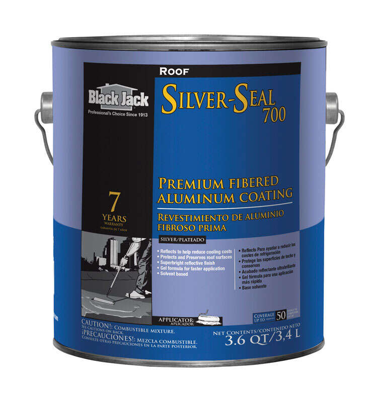 Black Jack  Silver-Seal 700  High-Gloss  Silver  Fibered Aluminum  Roof Coating  1 gal.