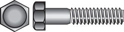 Hillman  3/8-16 in. Dia. x 2-1/2 in. L Stainless Steel  Hex Head Cap Screw  25 pk