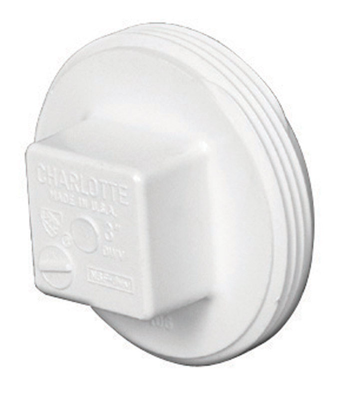 Charlotte Pipe  Schedule 40  4 in. MPT   x 4 in. Dia. MPT  PVC  Clean-Out Plug