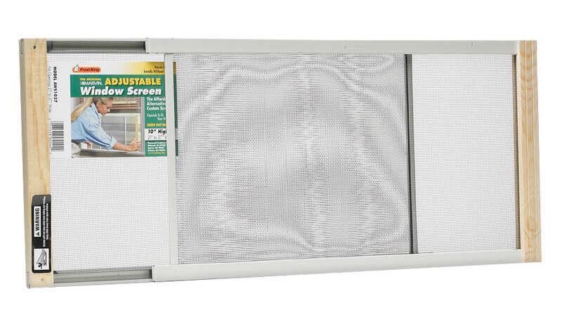 Frost King  21 To 37  Steel  Adjustable Window Screen