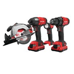 Craftsman V20 MAX 20 volt Cordless Brushed 4 tool Combo Kit