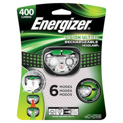 Energizer Vision Ultra 400 lumens Black/Green LED Head Lamp