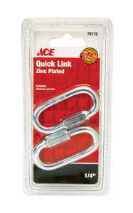 Ace  Zinc-Plated  Steel  Quick Link  2-1/4 in. L 880 lb. 2 pk