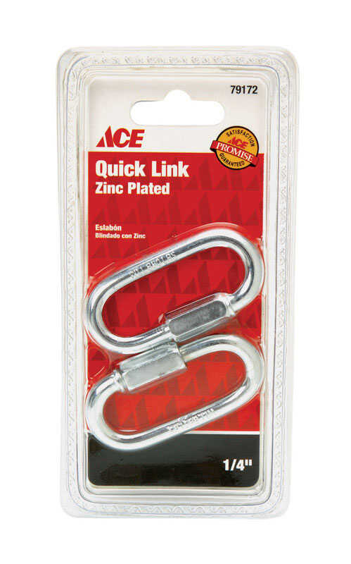 Ace  Zinc-Plated  Steel  Quick Link  880 lb. 2-1/4 in. L