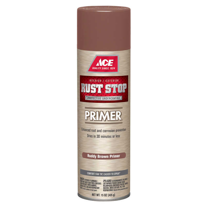 Ace  Rust Stop  For Metals 15 oz. Primer  Brown