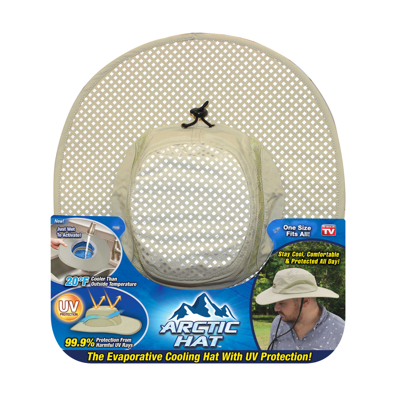 e2ec0b6c18c4b Arctic Hat As Seen On TV Evaporative Cooling Hat Beige One Size Fits Most -  Ace Hardware