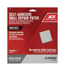 Ace 0.67 ft. L x 8 in. W Reinforced Aluminum White Self Adhesive Wall Repair Patch