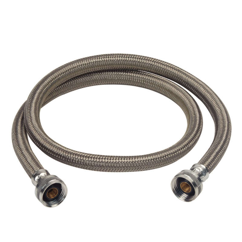 BrassCraft  3/4 in. FHT   x 3/4 in. Dia. FHT  5 in. Polymer  Washing Machine Supply Line