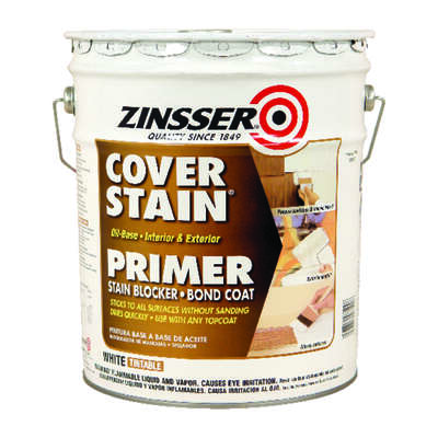 Zinsser  Cover Stain  White  Primer and Sealer  5 gal.