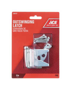 Ace Gate Latch Outswing 2 in. x 1-3/4 in. For gates, Shed/Barn Doors or Animal Pens Zinc Zinc