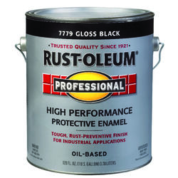 Rust-Oleum Professional Indoor and Outdoor Gloss Black Oil-Based Protective Paint 1 gal.