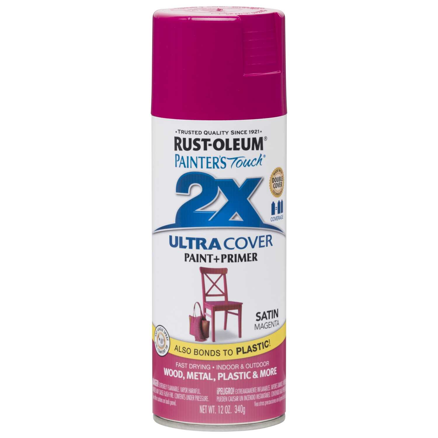 Rust-Oleum  Painter's Touch Ultra Cover  Satin  Magenta  Spray Paint  12 oz.