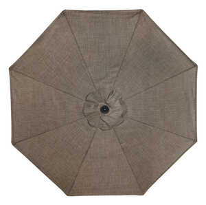 Living Accents  Newport  9 ft. Tiltable Taupe  Patio Umbrella