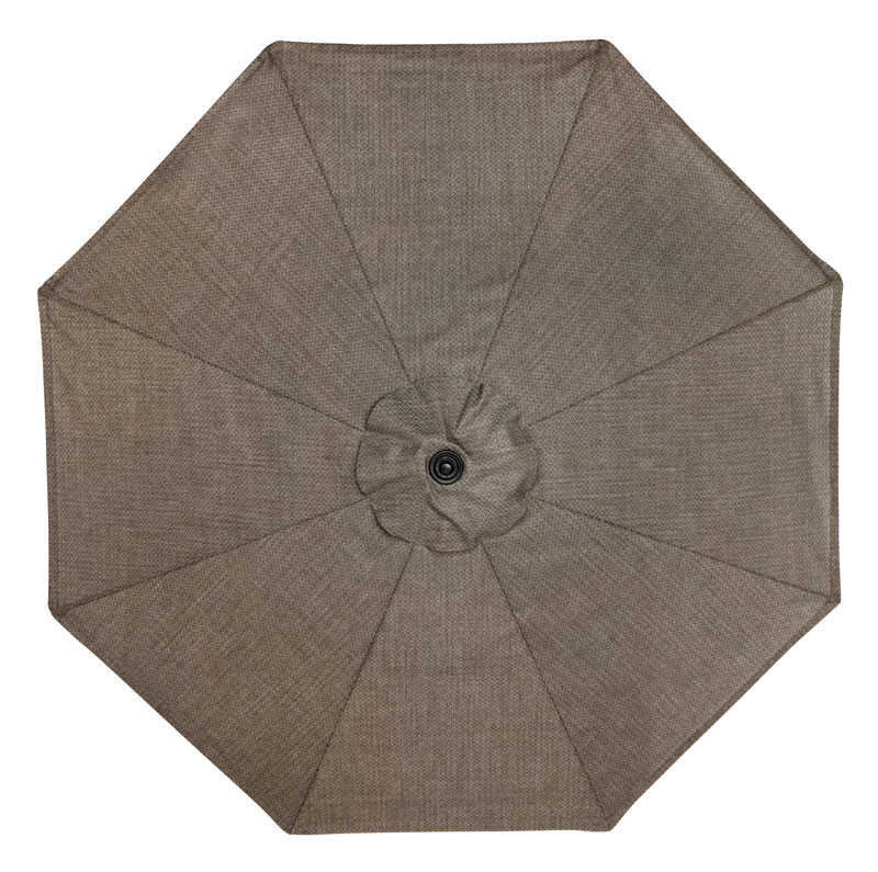 Tiltable Taupe Patio Umbrella - Living Accents Newport 9 Ft. Tiltable Taupe Patio Umbrella - Ace