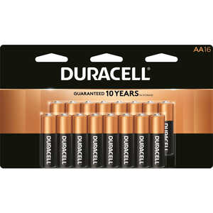 Duracell  Coppertop  AA  Alkaline  Batteries  1.5 volts Carded  16 pk