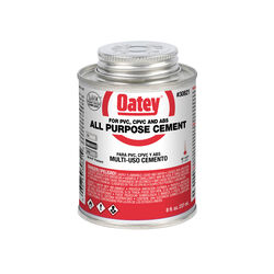 Oatey  Clear  All-Purpose Cement  For CPVC/PVC 8 oz.
