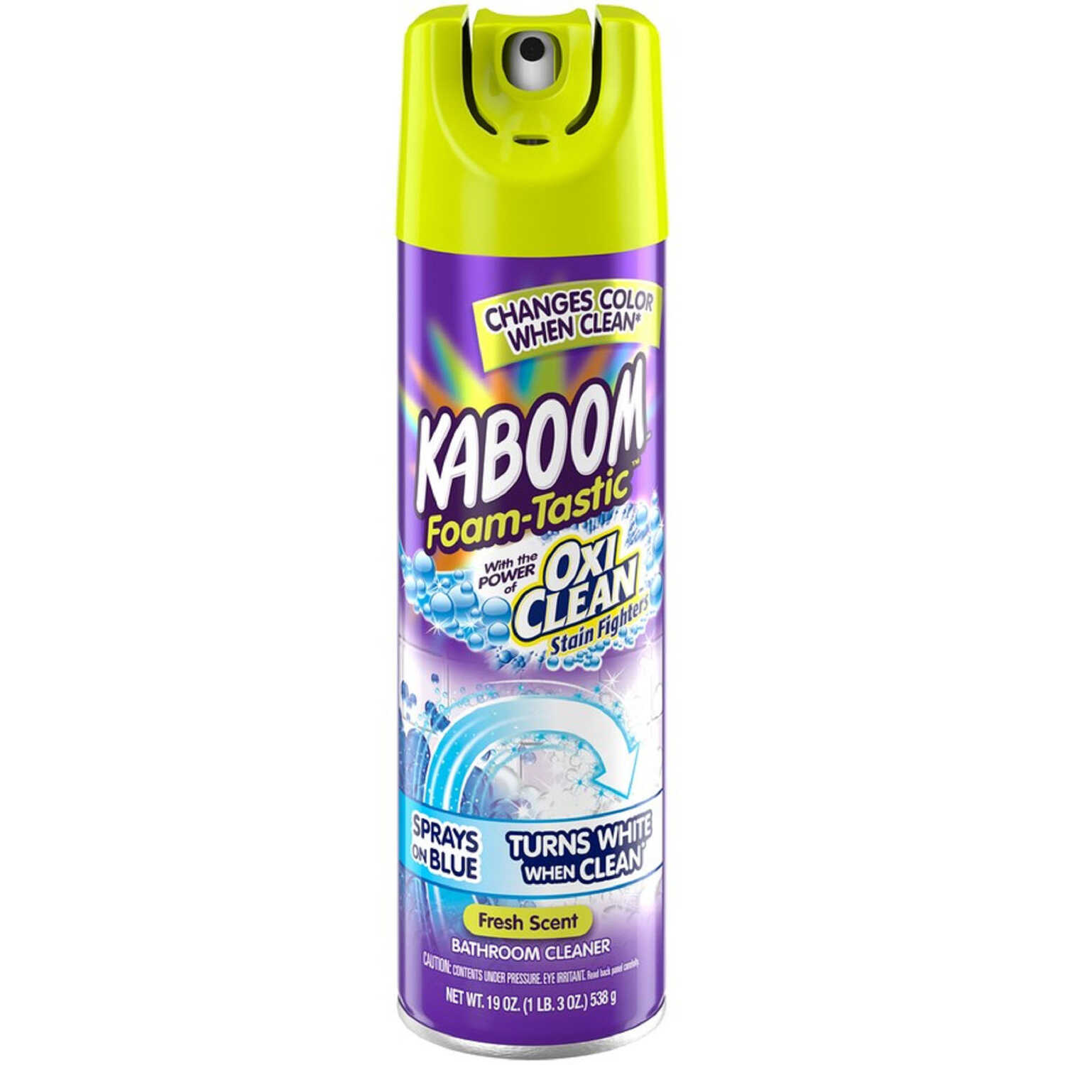 KABOOM  Foam-Tastic  Fresh Scent Bathroom Cleaner  19 oz. Foam