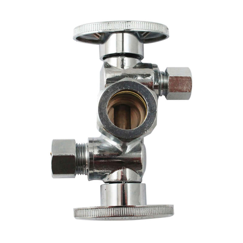 Keeney  1/2 in. CTS   x 3/8 in.  Brass  Shut-Off Valve